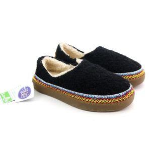Sanuk Little Bootah Black Cozy Clog Slippers NEW!